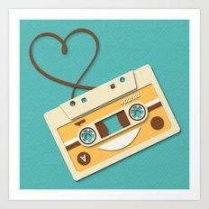 Memory Tape Art Print