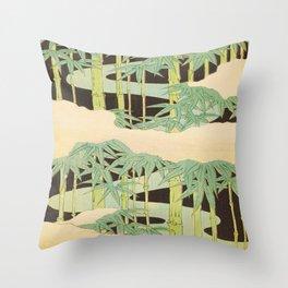 Shin-Bijutsukai – Japanese Design Bamboo At Night Throw Pillow