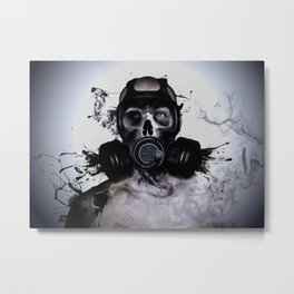 Zombie Warrior Metal Print