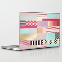 tape Laptop & iPad Skins featuring Decorative Tape by Louise Machado