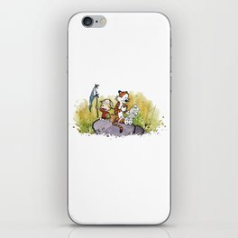 Calvin And Hobbes mapping iPhone Skin