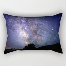 The Milky Way Violet Blue Rectangular Pillow