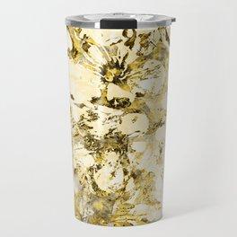 Gold Cherry Blossom Plaster Travel Mug