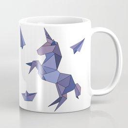 Origami Unicorn Coffee Mug