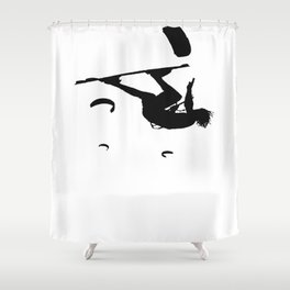 Freestyle Kiteboarder Turning The Whole World Upside Down Shower Curtain
