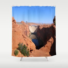 Glen Canyon Dam And Colorado River Shower Curtain