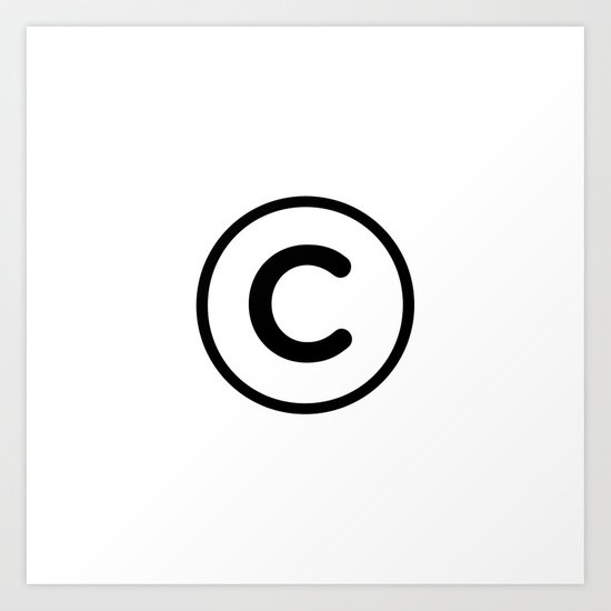 Copyright Symbol Art Print By Benpeacock Society6