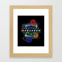 Engineer Gear Framed Art Print