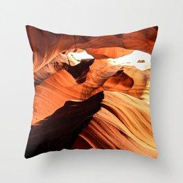 Wolf Spirit Animal in Page, Arizona Throw Pillow