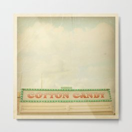 Cotton Candy Stand Metal Print