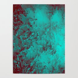 Under the Sea | Teal + Red Poster