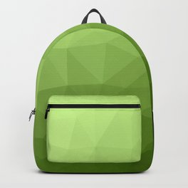 Greenery ombre gradient geometric mesh pattern Backpack