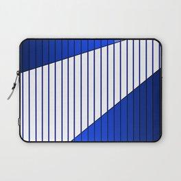 Blue Line Pattern Gradient Laptop Sleeve