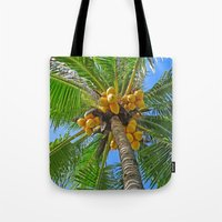 coconut wishes Tote Bags featuring COCONUT by Lartte
