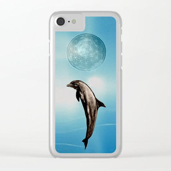 The DOLPHIN - ZEN version Clear iPhone Case