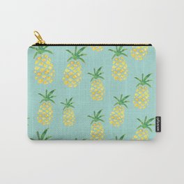 Pineapples Print (Mint) Carry-All Pouch