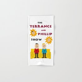 The Terrance and Phillip Show Poster on T-shirt Hand & Bath Towel