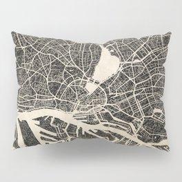 Hamburg map ink lines 2 Pillow Sham