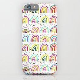 Watercolor Rainbows iPhone Case