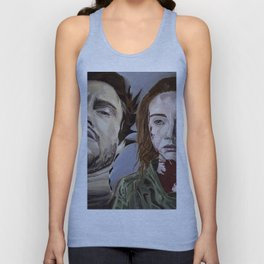 Abigail and Will 2., acrylic painting Unisex Tank Top