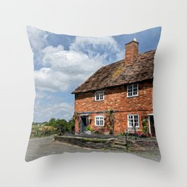 Old Cottages In Tewkesbury Throw Pillow