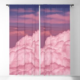 Pink Cotton Candy Clouds Blackout Curtain