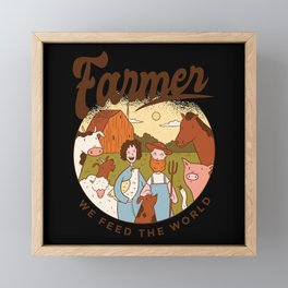 Farm Family Framed Mini Art Print