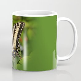 Western Tiger Swallowtail in the Garden Coffee Mug