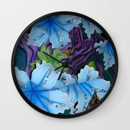 Carvival in Blue Wall Clock