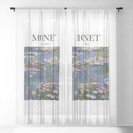Monet - Water Lilies Sheer Curtain