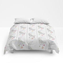 No Where - Moon Illustration Comforters