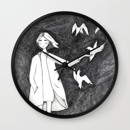Fly with birds Wall Clock