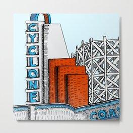 Cyclone Coaster (Lakeside Amusement Park) Metal Print