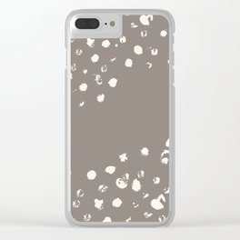 Dappled Hide in Taupe Clear iPhone Case
