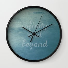 Infinity [With Text] Wall Clock