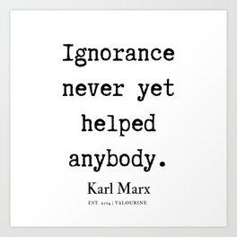 49  | Karl Marx Quotes | 190817 Art Print