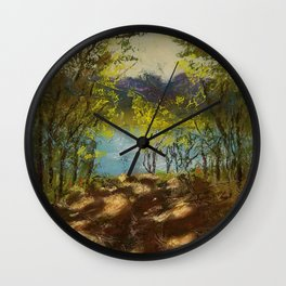 Chickies Rock Overlook Soft Pastel Painting Wall Clock