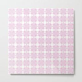 geometric pattern concentric squares pink Metal Print