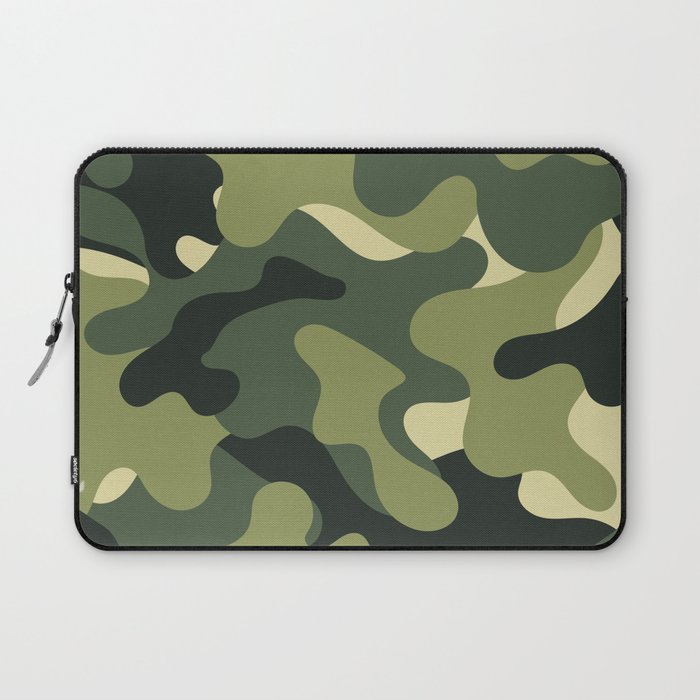 Camouflage Camo Green Tan Pattern Laptop Sleeve