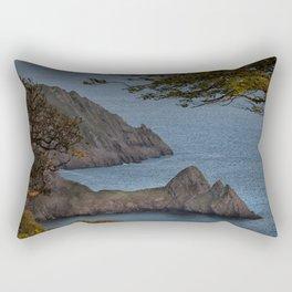 High tide at Three Cliffs Bay Swansea Rectangular Pillow