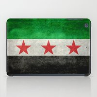 "islam iPad Cases featuring The Syrian ""independence flag""  retro style version by Bruce Stanfield"