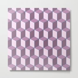 Abstract background with geometrical lines in pink tones Metal Print