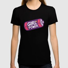 Girl Power Pattern in Purple T-shirt
