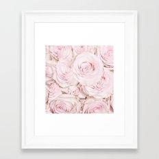 Roses have thorns- Floral Flower Pink Rose Flowers on #Society6 Framed Art Print