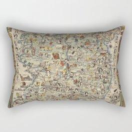 Map of Ireland Rectangular Pillow