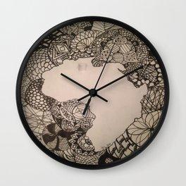 Zentangle Africa Wall Clock