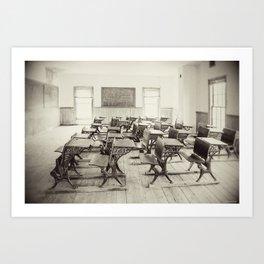 Vintage Schoolhouse Art Print