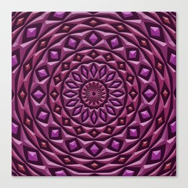 Carved in Stone Mandala Canvas Print