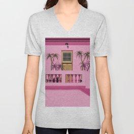 Cape Malay pink house Unisex V-Neck
