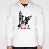 boston terrier Hoodies featuring Boston Terrier by Gooberella